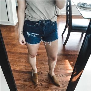 Guess Cut Off Distressed Jean Shorts 27